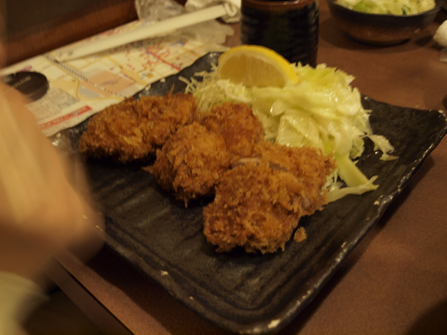 ヒレカツ定食2400円