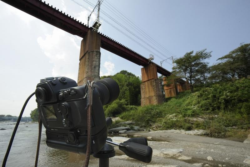 撮影準備完了  長瀞鉄橋