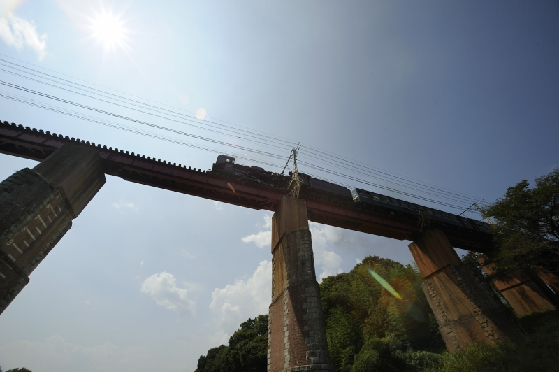 長瀞鉄橋を渡る C58363