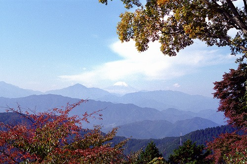 高尾山 から富士山