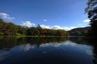 今年の紅葉は亀山湖