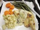 NY&ナイアガラ 4 デルタ航空 機内夕食