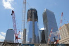 NY グランドゼロの建設中タワー 70階まで完成108階予定