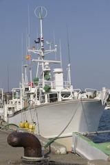 大洗港に停泊中の漁船